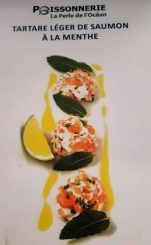 Tartare léger de saumon à la menthe